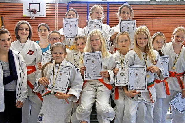 Judo-Mädels sind in Südbaden spitze