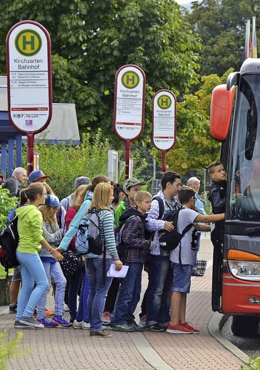 Eng geht es in den Schulbussen zu.  | Foto: Markus Donner