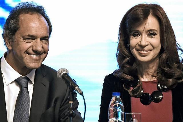 Daniel Scioli will am Sonntag die Wahl gewinnen