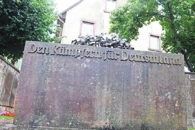 Umstrittenes Kriegerdenkmal: Fall wird zum Rechtsstreit