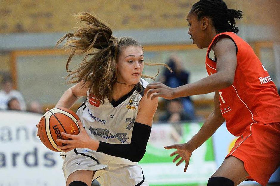 Ein Auf und Ab war der Auftritt der USC-Basketballerinnen gegen Herne. (Foto: Patrick Seeger)
