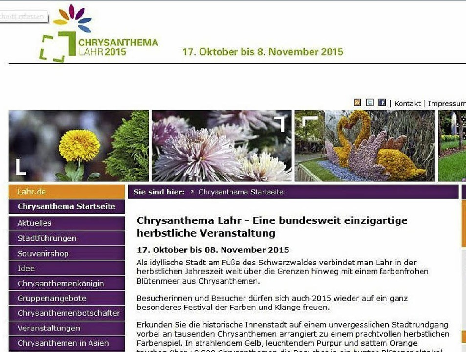 Die offizielle Homepage …  | Foto: Christian Kramberg