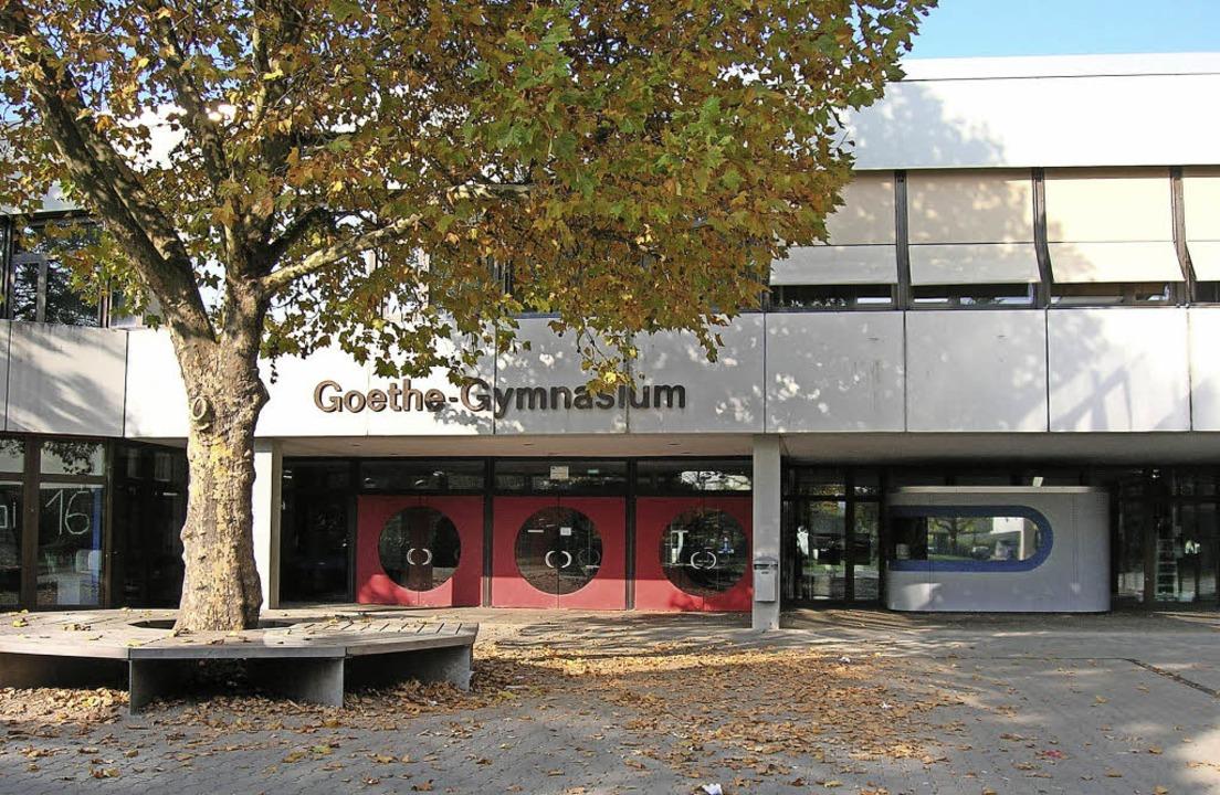 Montagnachmittag vor dem Goethe-Gymnas...cht verpflichtenden, Ganztagsbereich.   | Foto: Sylvia-Karina Jahn
