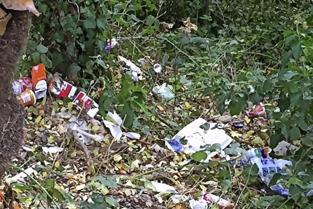 Ärger über Müll im Grün