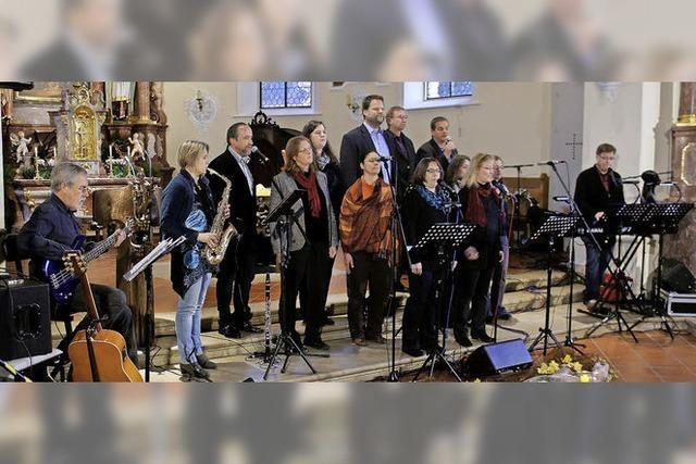 Die Vocal-Group erhellt die dunkle Pfarrkirche von Hänner