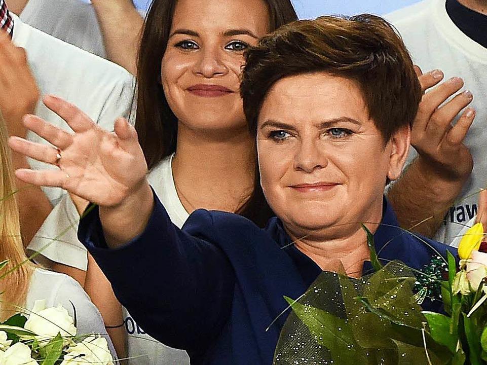 Beata Szydlo soll in Polen Regierungschefin werden    Foto: dpa