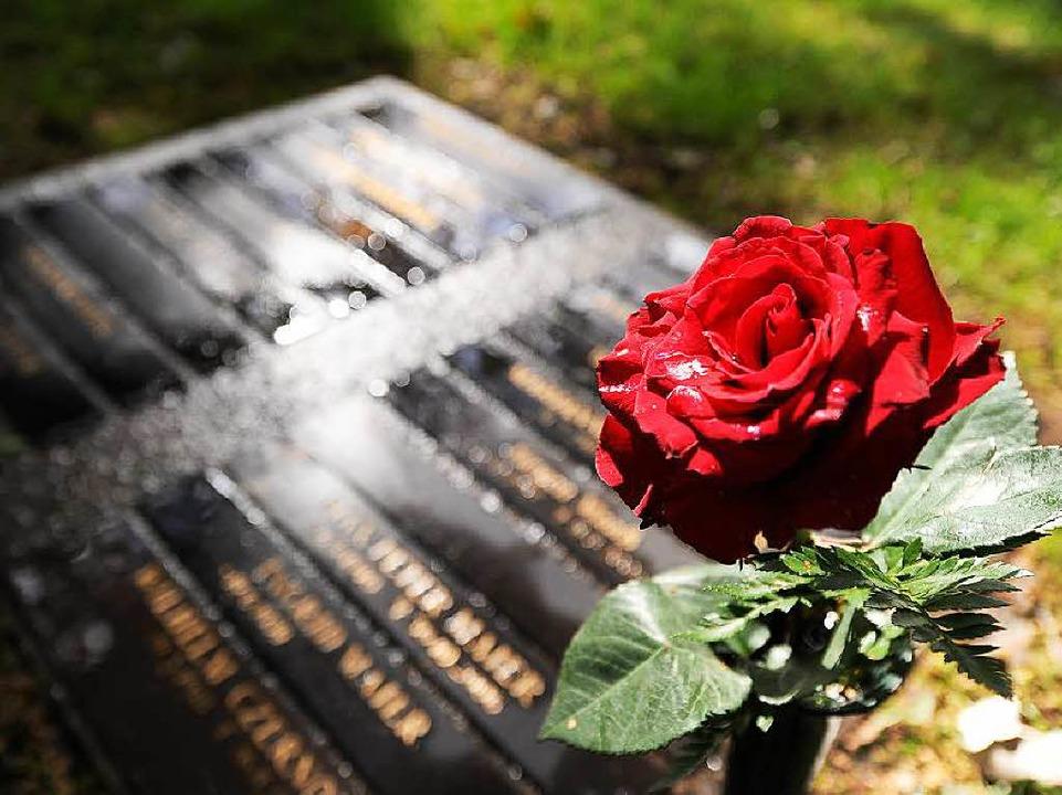 Nicht nur Blumen, auch Porträts schmücken heute viele Gräber.    | Foto: DPA