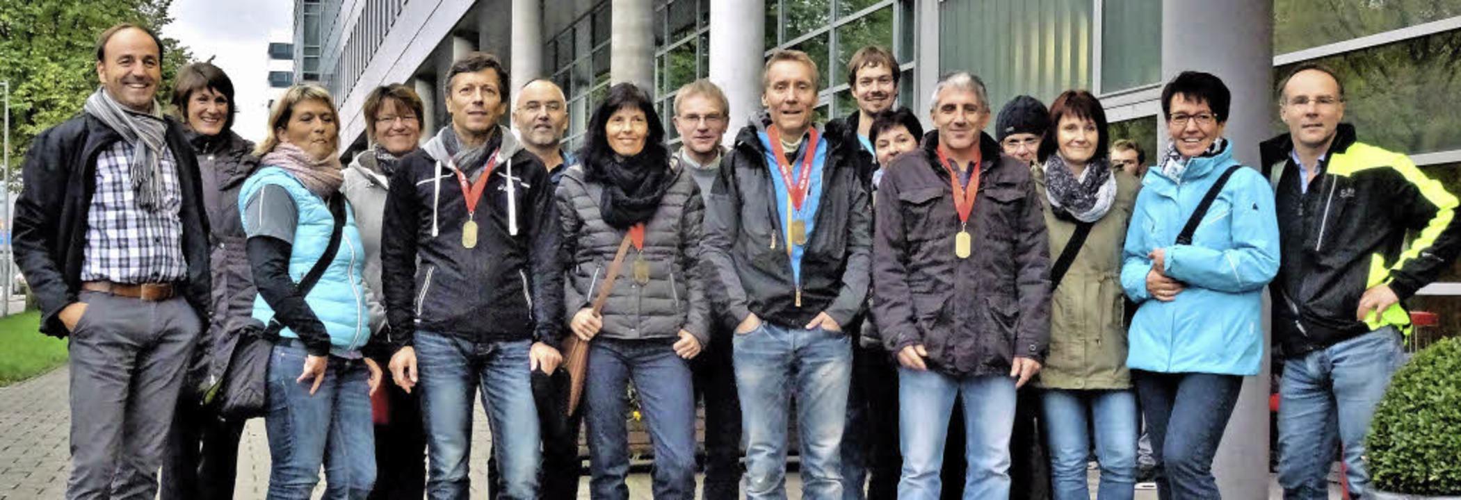 Die Bonndorfer Läufer zeigten beim Amsterdam-Marathon gute Leistungen.   | Foto: Privat