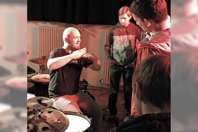 Schlagzeug ohne Kreuzgriff