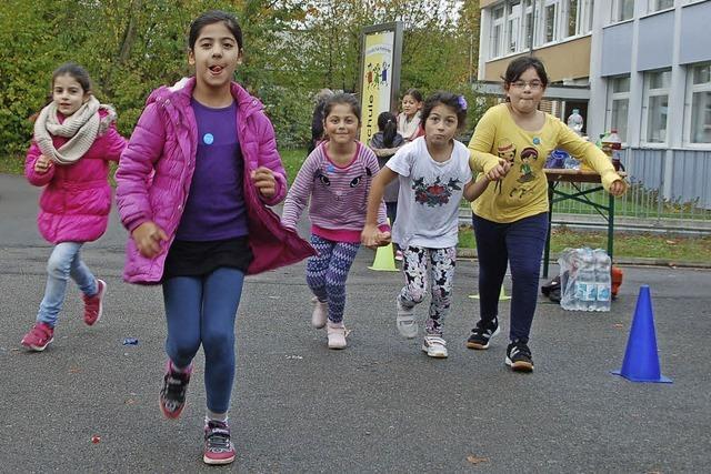 Schüler laufen um die Wette