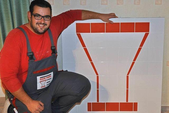 Mario Waibel gehört zu Deutschlands besten Fliesenlegern