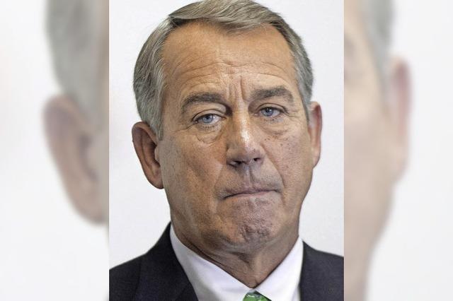 Scheidender US-Oppositionsführer Boehner einigt sich mit Obama auf den künftigen US-Haushalt