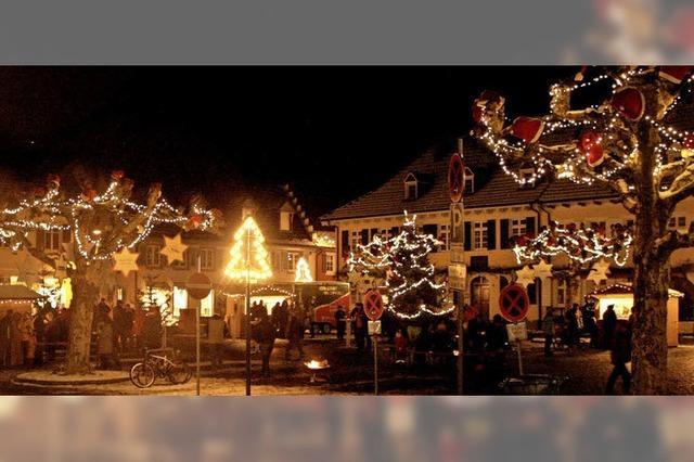 Seit zehn Jahren gibt's die Weihnachtsstraße