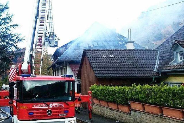 Brand in Schreinerei und Wohnhaus in Münstertal-Mulden