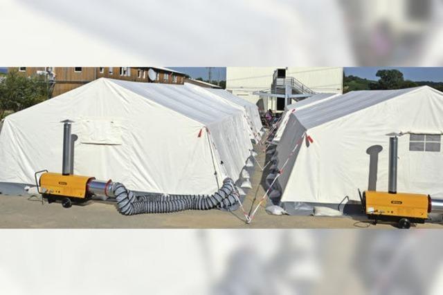 Die Flüchtlingszelte dürfen bis Mitte November stehen bleiben