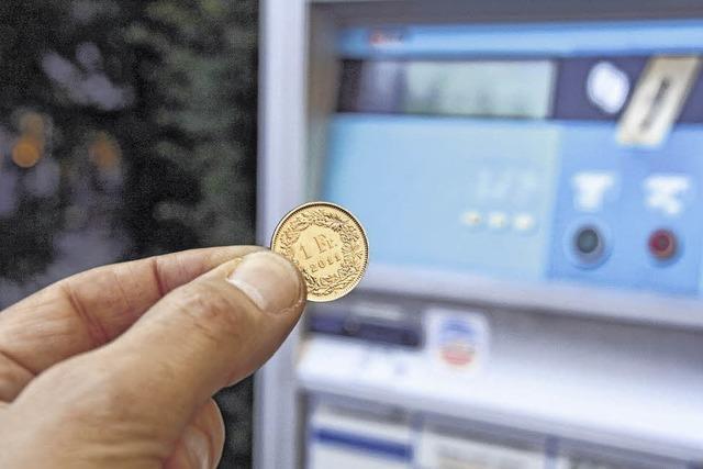 Keine Franken mehr in Parkautomaten