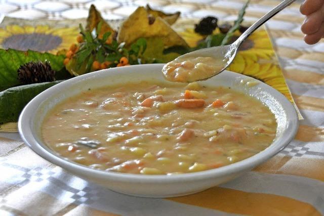 Suppe reicht, aber Teller sind knapp