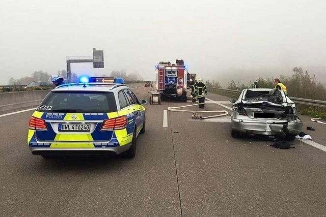 Mann stirbt bei Unfall auf A5 bei Willstätt