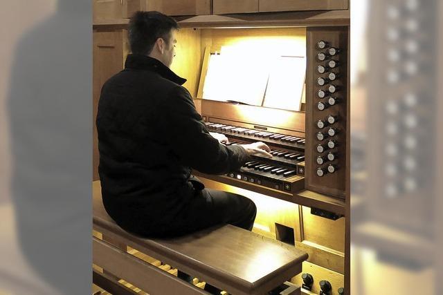 Die volle Klangfülle der Orgel genutzt für spielerische Improvisation
