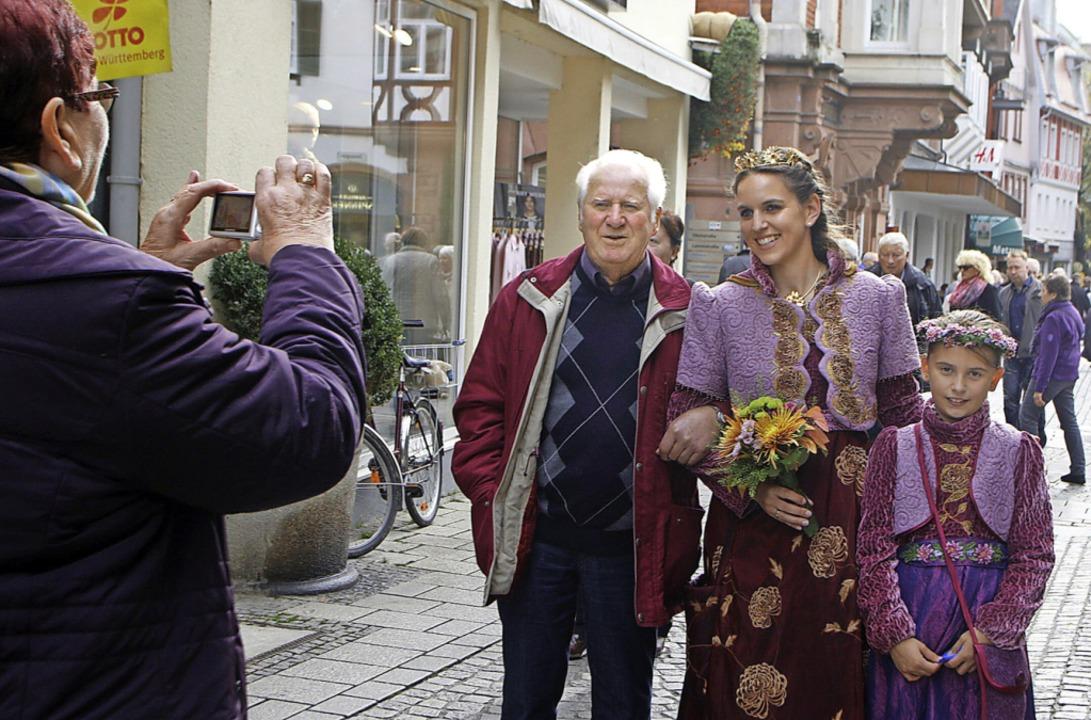 Beliebtes Fotomotiv auf der Chrysanthema     Foto: Heidi Fössel