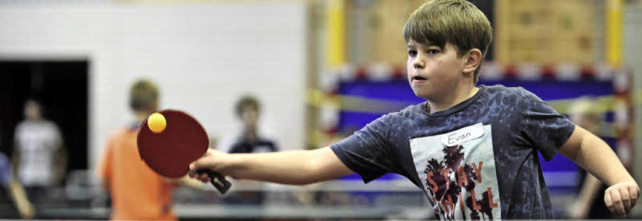 Evan (9) ist eines der Kinder, die zur...m Sonntag beim Turnier im Rieselfeld.     Foto: thomas kunz