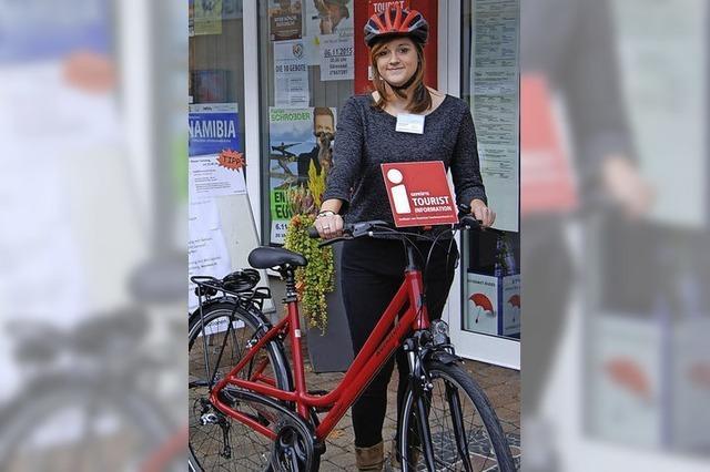Auf dem Fahrrad zu den Gästen