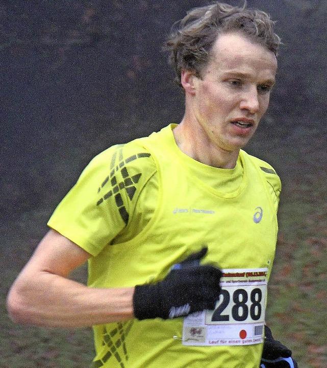 Nicht zu halten: Der Freiburger Lukas ...egte  beim Crosslauf in Gundelfingen.   | Foto: stinn