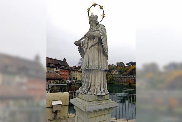 Nepomuk-Statue auf der Laufenbrücke wird saniert