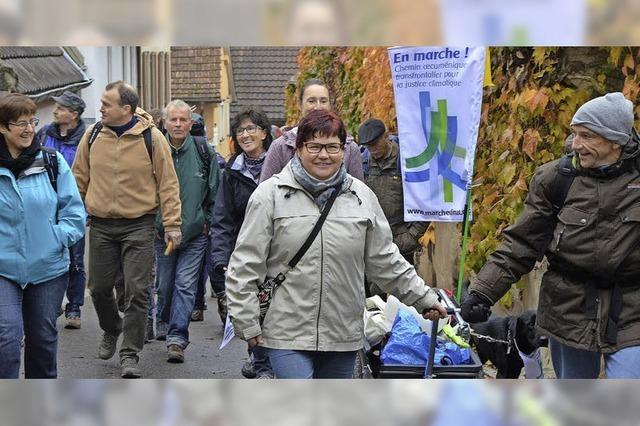 Klimapilger starten in Ihringen