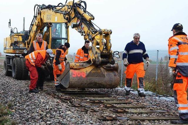 Gleise der Kaiserstuhlbahn werden saniert – rund um die Uhr