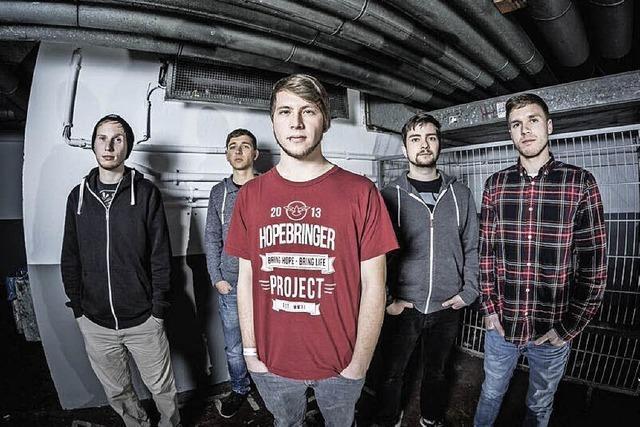 Die Metalcore-Band Burning Nations spielt im Schlosskeller