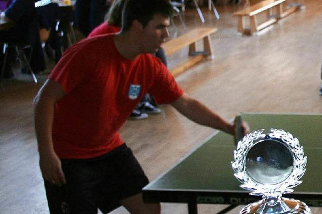 Tischtennisturnier der Jugendwehr in Hüsingen