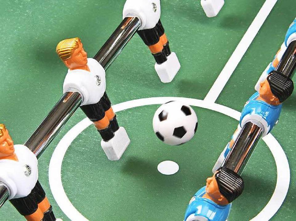 Tischfußball – ein Spiel für Millionen.  | Foto: Marina Lohrbach / Fotolia.com