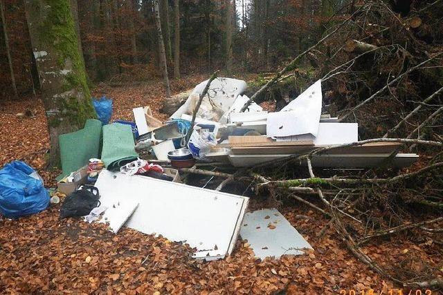 Polizei ermittelt Müllfrevler aus Albbruck