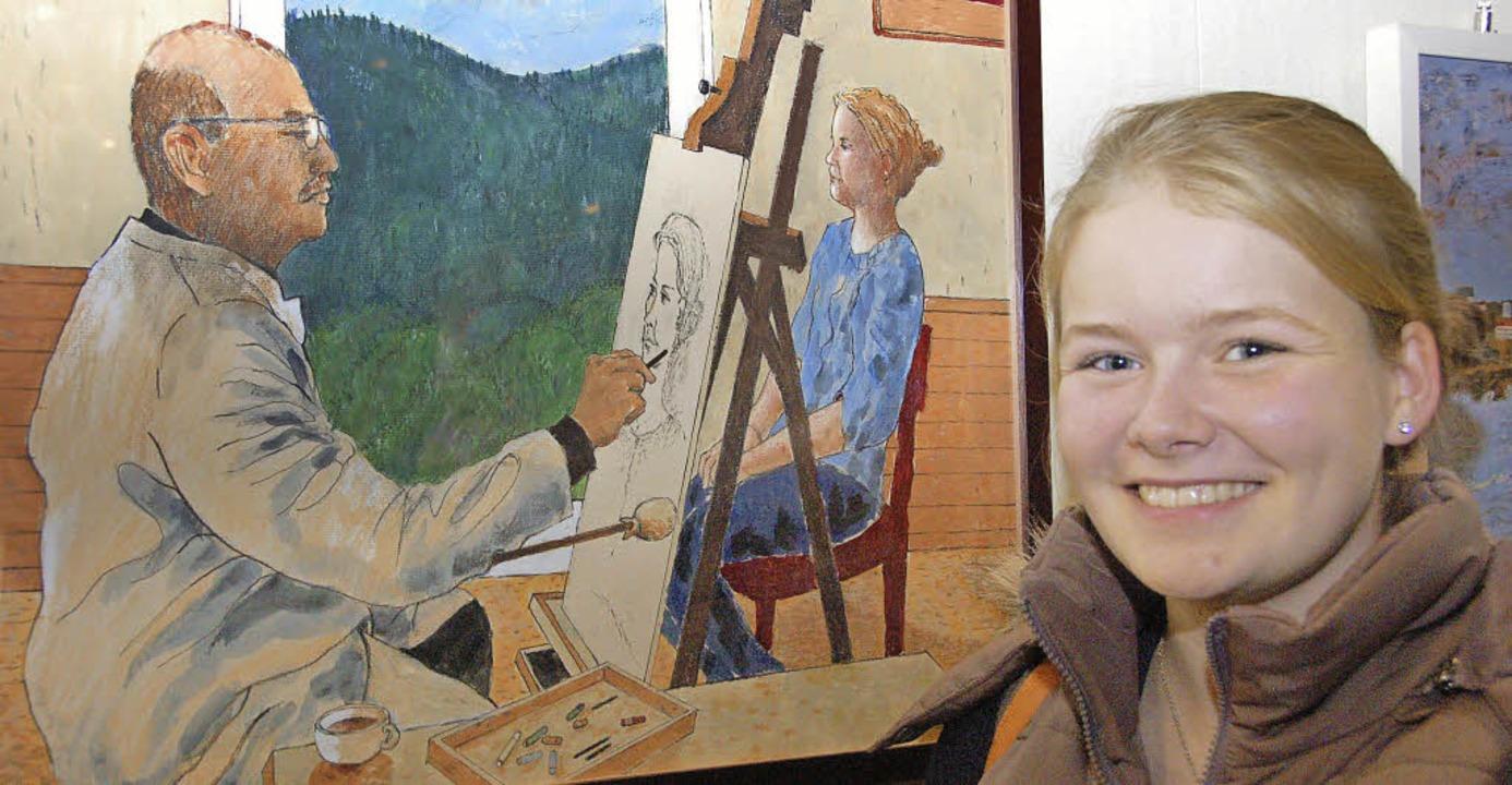 Franziska (15) ist das Modell auf dem ... ließ der Künstler sich fotografieren.  | Foto: Andrea Steinhart