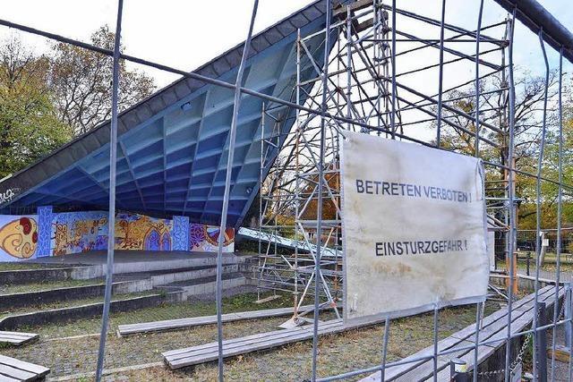 Musikpavillon in Freiburg droht einzustürzen – Schaden größer als befürchtet