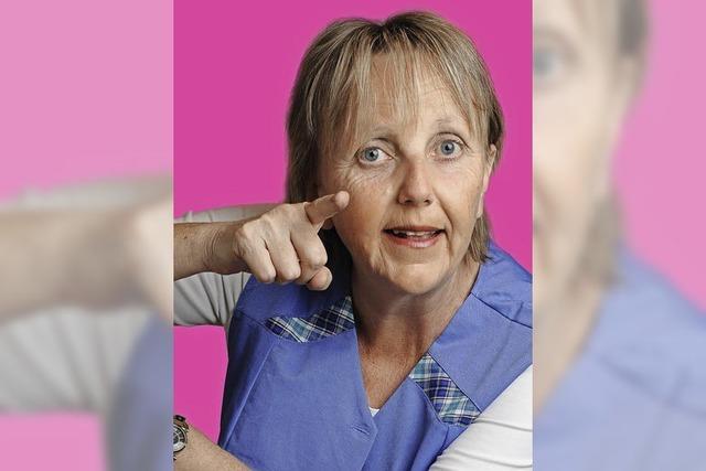 Marianne Schätzle als Merkel-Double in Lenzkirch