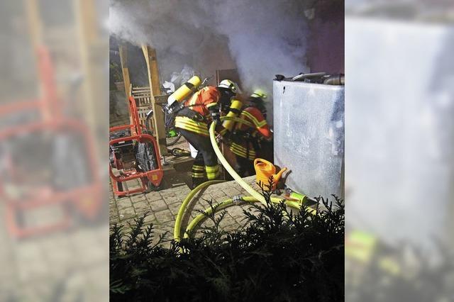 Ein Keller fing Feuer