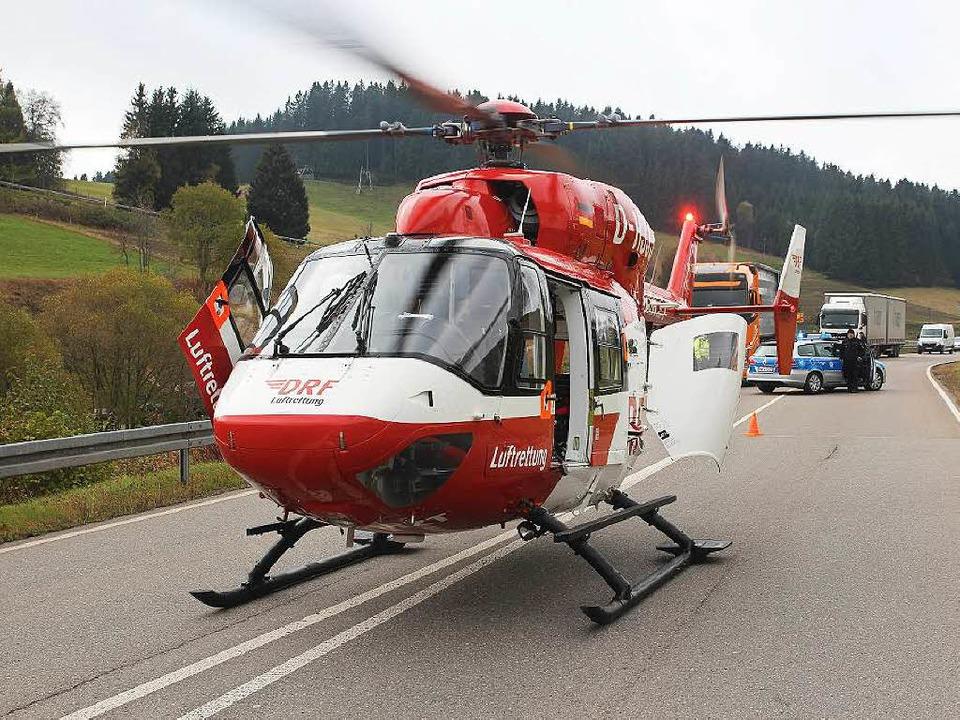 Notfalleinsatz in Furtwangen. Christop... Meter von der Unfallstelle entfernt.   | Foto: Michael Saurer