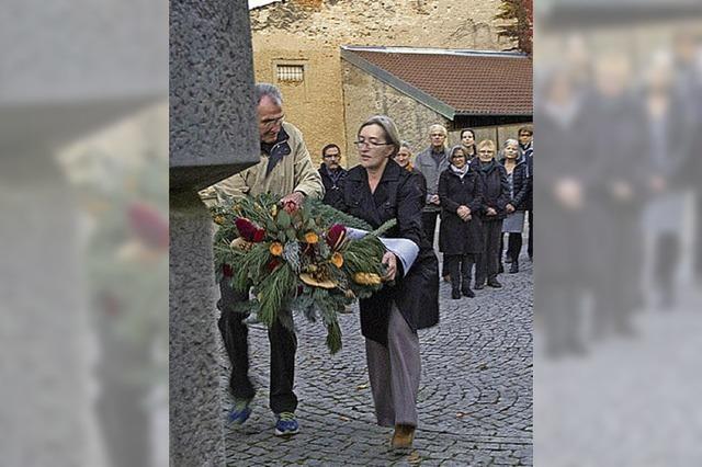 Gedenkfeier für jüdische Opfer