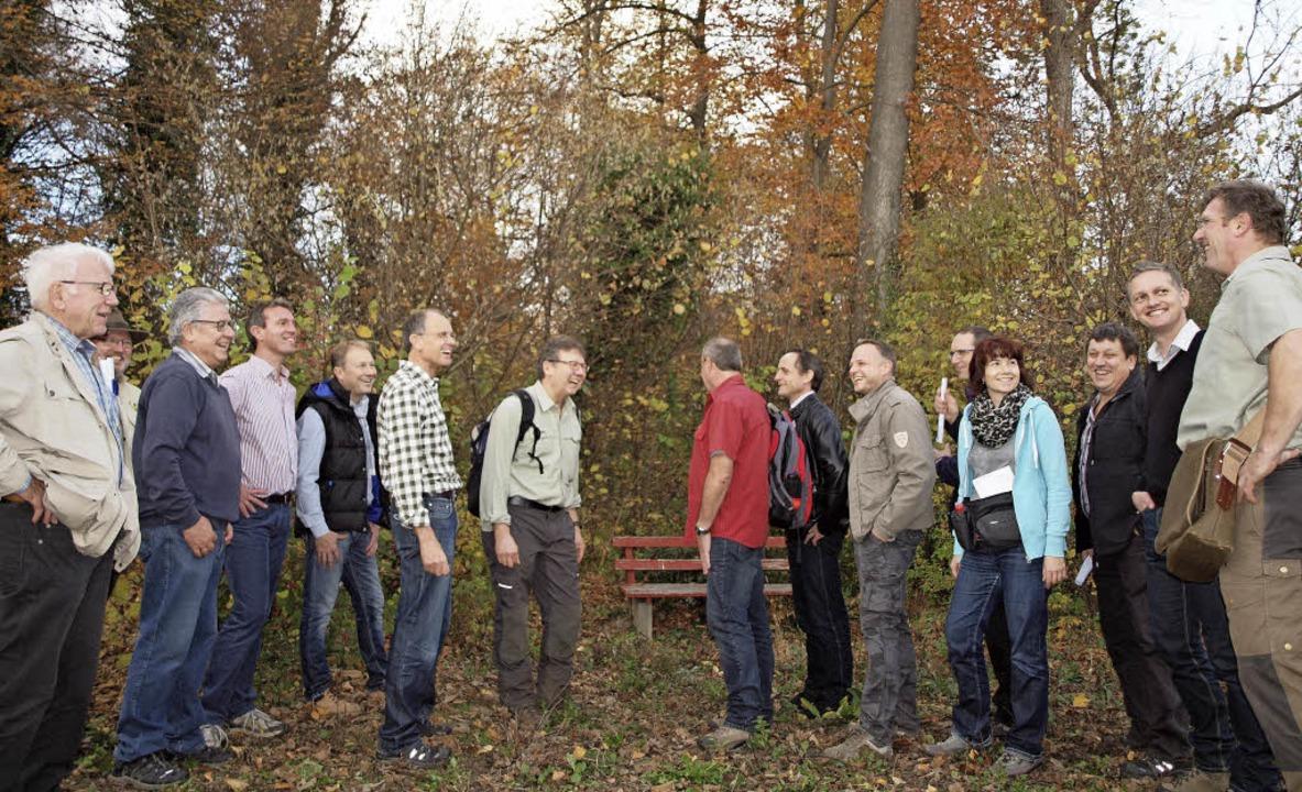 Gut lachen haben Gemeinderat und Forst... Eichenpflanzungen derzeit Gewinn ab.   | Foto: Michael Haberer
