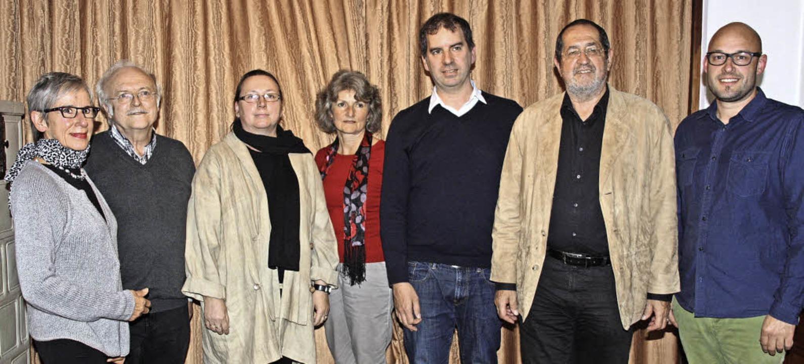 Das neue Vorstandsteam des Vereins &#8...ruegel und Simon Kaufmann (von links).  | Foto: Christiane Franz