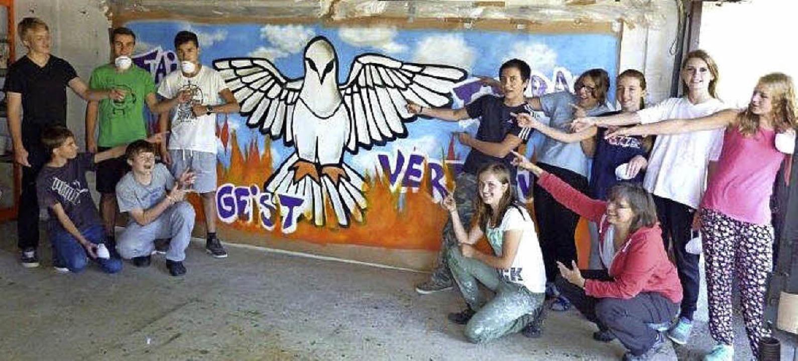 Graffiti in der Firmvorbereitung   | Foto: Privat