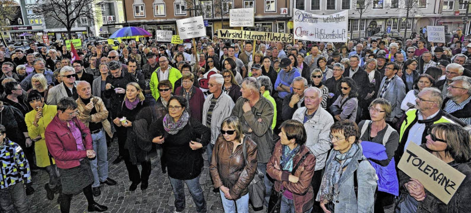 Mahnwache für eine tolerante Stadt   | Foto: Roland Sigwart