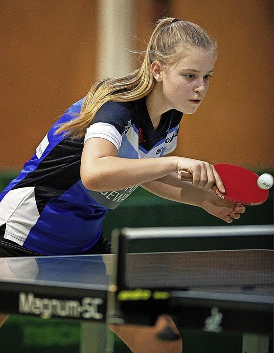 Celine Schädler gewann ihre Einzel.  | Foto: Wolfgang Scheu