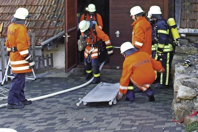 Erfolgreiche Probe der Feuerwehr Boll