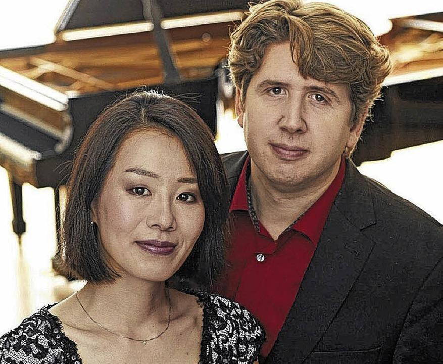 Norie Takahashi (links) und Björn Lehm...schen Versöhnungskirche in Waldshut.    | Foto: Veranstalter