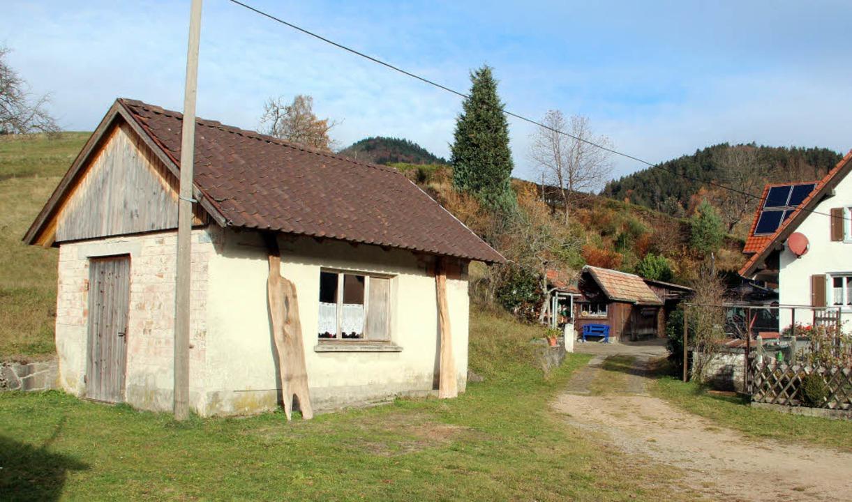 'Außer Betrieb ist das ehemalige Waagehäuschen in Marzell    Foto: Rolf-Dieter Kanmacher