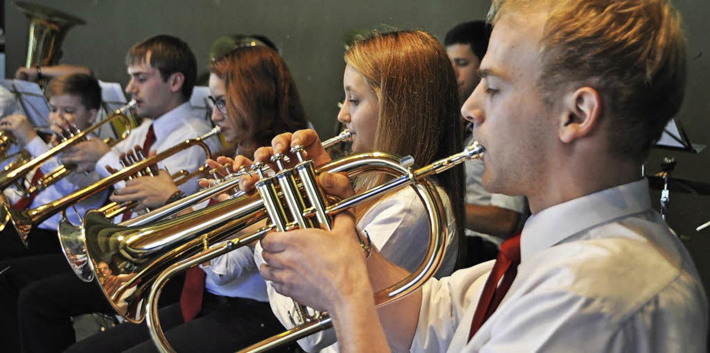 Ein Beispiel gelingender Jugendarbeit:... die Verbandsversammlung musikalisch.     Foto: Daniel Gramespacher