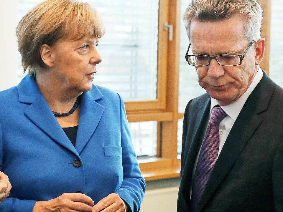 Es knirscht zwischen Angela Merkel und...er erneut das Vertrauen ausgesprochen.  | Foto: dpa